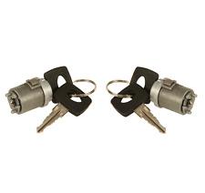 For Mercedes R107 W123 W126 Pair Set of 2 Ignition Lock Cylinders w/ Keyes Febi