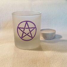 Pentagram Votive Candle Holder, plus Candle