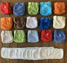 Huge Lot Of 15 Cloth gDiapers, size SMALL + 12 g Cloth Inserts