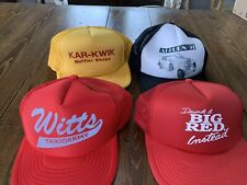 Lot Of 4 Vtg Trucker Mesh Snap Back Hats Excellent
