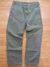 Timberland Mens Sz 34x32 All Cotton Hiking Casual Pants Army Green