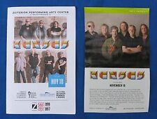 "Kansas-""2016 Concert Booklet & Flyer Set"" P.Ehart-R.Williams-Journey-Rock-Great!"