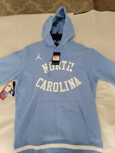 Men's Nike Jordan North Carolina Tar Heels Hoodie Sweatshirt Light Blue Large