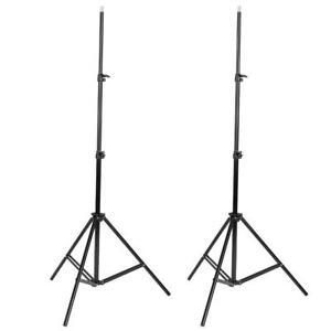 Lot 2 Studio Photography Light Speedlight Stand 6.6FT Adjustable Bracket Tripod