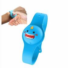 Bracciale Wristband Dispenser Bambini con Dosatore colore Azzurro New