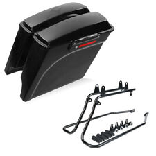 Complete Saddlebags Saddle Bags & Softail Conversion Brackets For Harley Softail