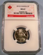 2010 CANADA 5c NGC MS 67 NICKEL FIVE CENT COIN MS 67