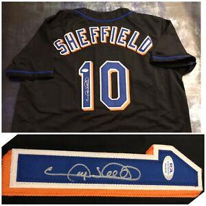 PSA New York Mets 500 HR GARY SHEFFIELD Signed Jersey COA