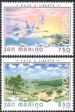San Marino 1995 EUROPA/PAIX/Liberté/Cygnes/MOUTON/oiseaux/nature 2 V Set (n33874)