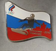 2010 VANCOUVER RUSSIA FLAG SNOWBOARD OLYMPIC WINTER GAMES PIN LIMITED 1/500