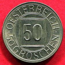 AUSTRIA - 50 Groschen 1934 - EBC