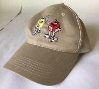 Vintage Planet Mars M&M's Golfing Hat Strapback Cap Khaki Adjustable Dad Hat