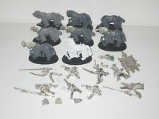 Warhammer Bretonnian Questing/Grail Knights x8 inc Standard part metal OOP 4516