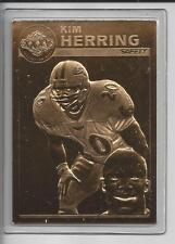 Kim Herring Danbury Mint Ravens Super Bowl Xxxv 22kt Gold Ltd Edition Cd #1