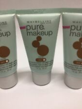 LOT OF 3 - MAYBELLINE PURE MAKEUP OIL-FREE  COCOA DARK # 3 NEW.