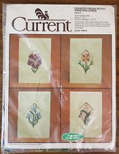 Vintage Current Cross Stitch Greeting Cards Floral
