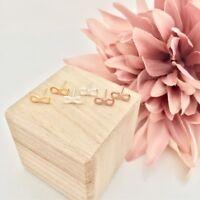 Damen Ohrringe Ohrstecker Infinity Unendlich Ewig Gold Silber Rosegold Edelstahl