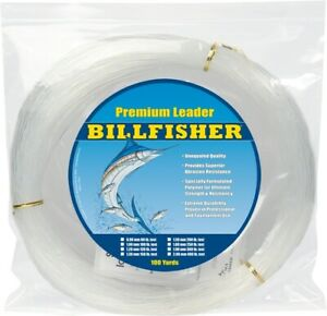 Billfisher LC100-300 Mono Fishing Leader Coil 300 lb 100 Yd Clear 1.9mm