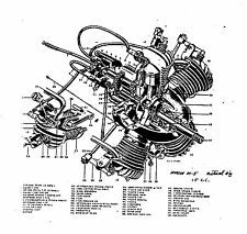 Morton M-5 model airplane engine drawings and instructions Paper copies
