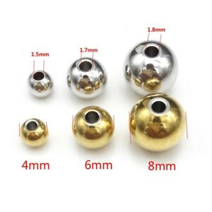 Wholesale Stainless Steel Beads 3mm/4mm/6mm /8mm Solid Beads for Jewelry Making