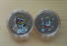 Russia,2 coins Talisman FIFA 2018- Wolf Zabivaka, 25 rubles, Russia,unc.