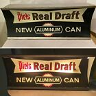 VINTAGE PIELS REAL DRAFT BEER ALUMINUM CAN ADVERTISING LIGHTED STORE SIGN
