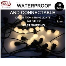 5 Pcs 10m LED Festoon String Lights Kits Wedding Party Garden Waterproof Outdoor