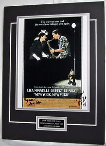 """Liza Minnelli signed Fred Ebb signed """"New York New York""""  display authentic COA"""