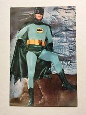 Vintage Batman 1960s Adam West Colour Postcard Super Hero TV Movie Collectable