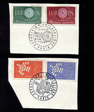 1960-1 France Europa Sets FDC Exposition Cancels on Piece