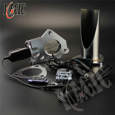 """2.5"""" / 63MM Electric Stainless Exhaust Cutout with Remote control Pipe Exhaust"""
