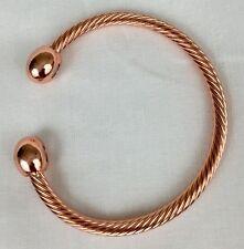 Men Women Magnetic Copper Bracelet Therapy Arthritis  Healing Energy.