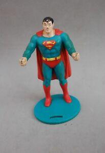 Superman 1988 Figure Vinyl Plastic Toy DC Comic Robert Demars Cup Holder