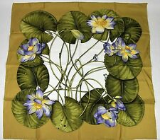 New Gucci Large Chartreuse Floral Silk Scarf 340019 7378