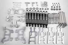 Aluminum Upgrade Parts Package For HSP RC 1/10 Off-Road Monster Truck Silver