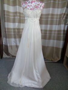 (115)Edles Damen Braut Standesamt Abend Kleid GR: 38