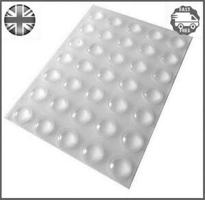 35 Clear Self Adhesive Domed Bumper, Rubber Feet, Stops for Furniture, Glass