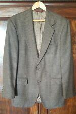 Nordstrom 40L Wool Houndstooth Brown Navy Blue Jacket Sportcoat Blazer