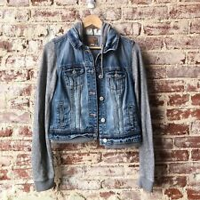 Women's American Eagle Denim Sweatshirt Jacket Medium