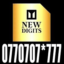 MEMORABLE 777 VIP UNIQUE MOBILE NUMBER EXCLUSIVE DIAMOND GOLD EASY TO REMEMBER