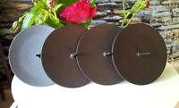 4 x Metall 6 cm Adventskranzstecker Schwer Schwarz Kerzenhalter Adventskranz