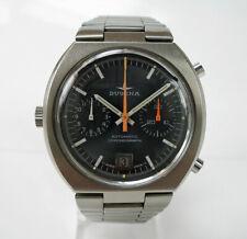Chronograph DUGENA automatic Buren Heuer Breitling Cal. 12 Stahl Box vintage
