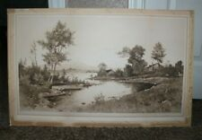 1892 Antique Etching by G.W. Bohde signed in pencil Kruseman Van Elten