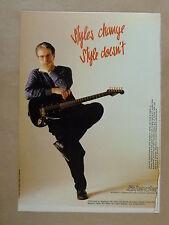 vintage magazine advert 1989 LEVINSON BLADE