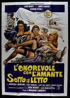 M236 Manifesto 4F' Onorevole with L' Lover Sotto Letto Banfi Janet Agren
