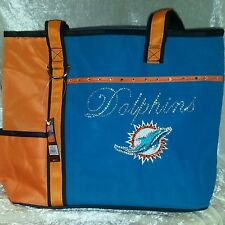 Miami Dolphins Tote Rhinestone Bling NFL Purse Bag ~NEW~