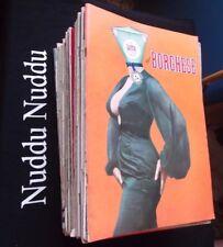 """29 Riviste settimanale """"il Borghese"""" - vari anni: 1958, 1959, 1966"""