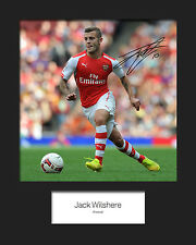 JACK WILSHERE - ARSENAL Signed 10x8 Mounted Photo Print - FREE DEL