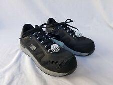 New Men's Skechers Bulkin Work Shoes Composite Toe 77180 Black