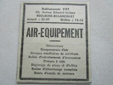 37-38 PUB AIR EQUIPEMENT VIET DEMARREUR COMPRESSEUR TRAIN ATTERRISSAGE AVION AD